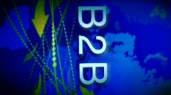 B2B background 2 Stock Footage