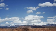 Timelapse of Clouds over the LaSal Mountains Stock Footage