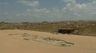Caesarea Hippodrome pan 3 Stock Footage