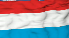 Flying flag of Luxembourg Stock Footage
