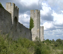 Medieval Times Castle in Visby Stock Footage
