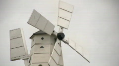 Wooden windmill 1 Stock Footage
