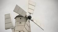 Wooden windmill 1 Stock Footage