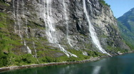 Stock Video Footage of 7 Sisters Waterfall Norway