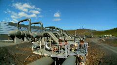 Geothermal Energy Plant  Stock Footage