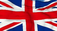 Flying flag of UK Stock Footage