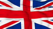 Stock Video Footage of Flying flag of UK
