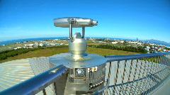 Tourism Binoculars Stock Footage