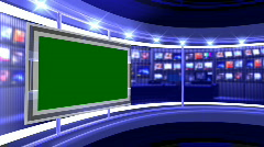 Virtual Studio 12 Blue - stock footage