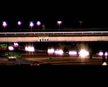 NightTrafficBridge01 Stock Footage