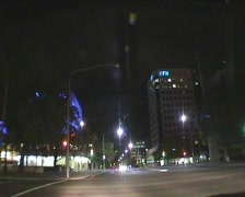 NightTrafficCanberraCity04 Stock Footage