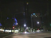 Stock Video Footage of NightTrafficCanberraCity04