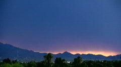 Sunset lightning Stock Footage