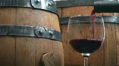 Wooden wine kegs Stock Footage