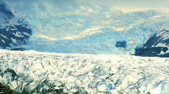 T/Lapse Vatnajokull Glacier Stock Footage