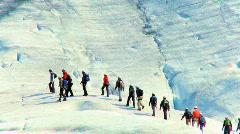 Ice Climbing Team Stock Footage