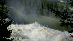 Waterfall in Sweden Stock Footage