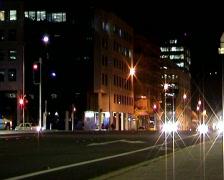 NightTrafficLights08 Stock Footage