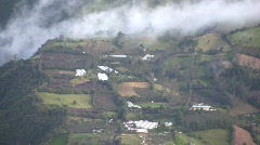 Cultivated fields on the slopes of Tunguragua Volcano, Ecuador Stock Footage