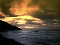 Ocean Sunrise Time Lapse - stock footage
