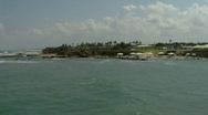 Caesarea  sea pan 1 Stock Footage