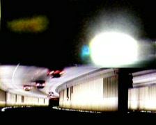 NightTrafficTunnel04 Stock Footage