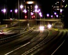NightTrafficTunnel03 Stock Footage