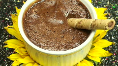Chocolate Mousse Sunflower Stock Footage