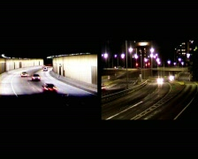 NightTrafficTunnel05Comp Stock Footage