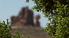 Balanced Rock Rack Focus-Arches National Park Stock Footage