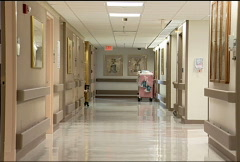 Empty Hospital Hallway 076 - stock footage