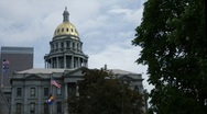 Time lapse - Colorado State Capitol Building Stock Footage