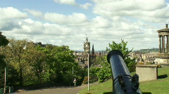 Zoon in Clock from Calton Hill Stock Footage