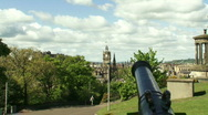 Stock Video Footage of Zoon in Clock from Calton Hill