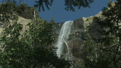 Yosemite-Bridal-Veil-Waterfall-3 Stock Footage