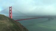 Golden Gate Bridge in San Francisco Stock Footage