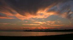 X Wide Bridge n Clouds - stock footage
