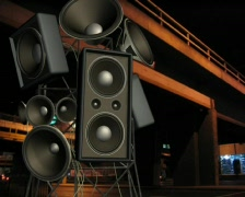 SpeakerUnderpass01 Stock Footage