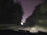 Night drive tstorm 02-DV NTSC Stock Footage