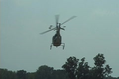Helicopter Flies Away 1 Stock Footage