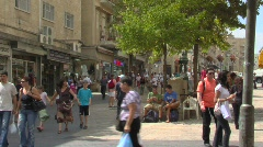 Ben Yehuda Street Stock Footage