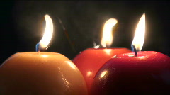 Candles Three Stock Footage