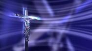 Blue Crucifix Jesus Stock Footage