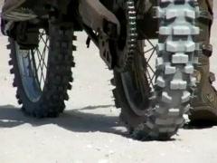 Dirt Bike slowmotion 4 Stock Footage