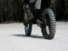 Dirt Bike slowmotion 5 Stock Footage