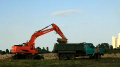 Power shovel Stock Footage