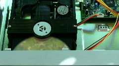inside a dvd player - stock footage