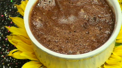 Chocolate Mousse Sunflower - stock footage
