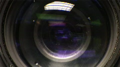 Camera Lens Focus Front Stock Footage