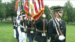 Military Color Guard (HD) c Stock Footage